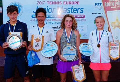 Tennis Europe Junior Masters champions crowned